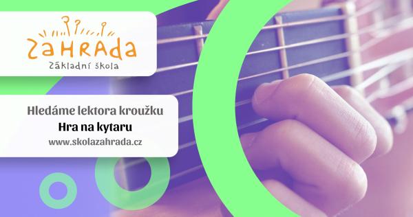 Hledáme lektora na kroužek: Hra na kytaru