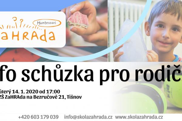 Info schůzka pro rodiče